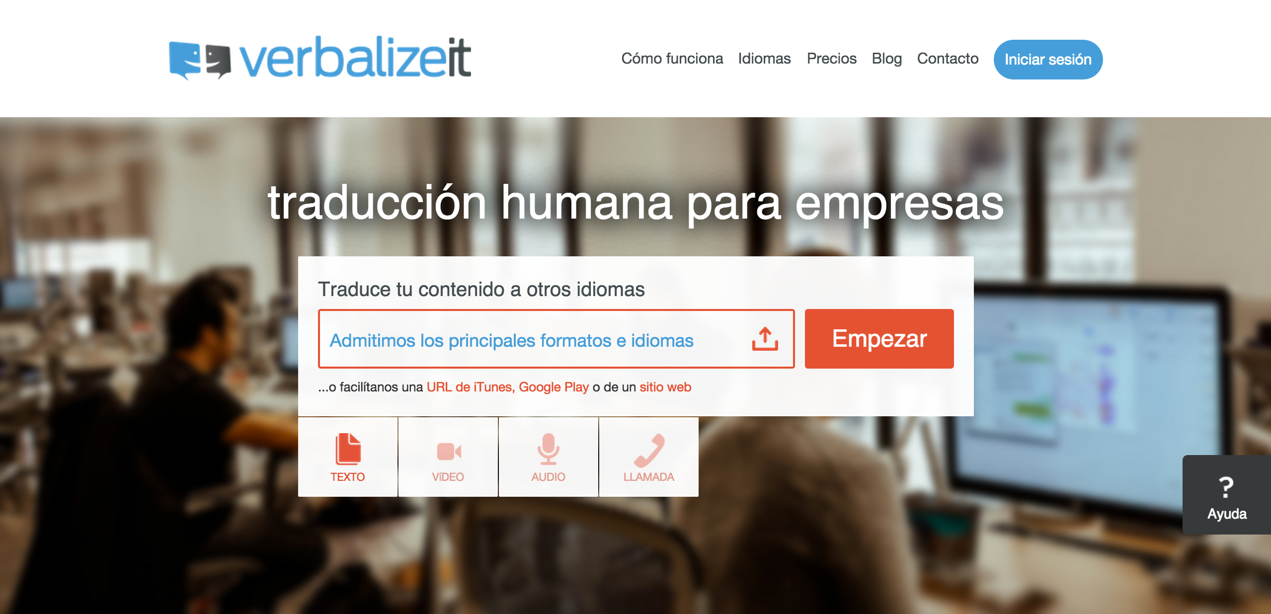 VerbalizeIt Spanish Website